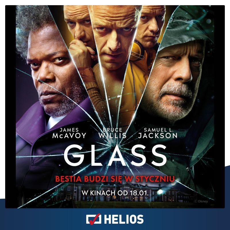 """Helios zaprasza na seanse filmu """"GLASS""""!"""