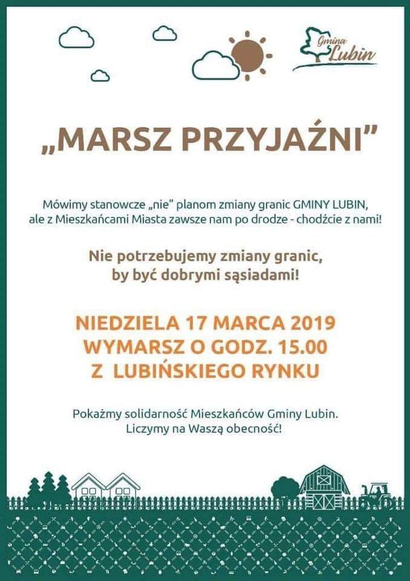 """Gmina Lubin w """"Marszu Przyjaźni"""